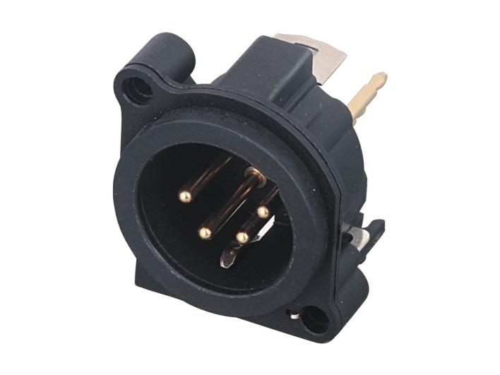 XLR卡侬公插座SPM4-23D