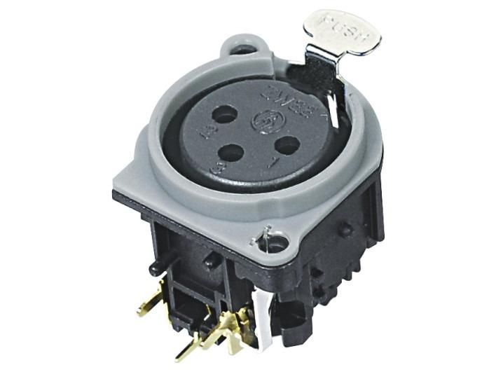 XLR卡侬母插座SPF-24-GR