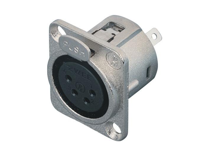 XLR卡侬母插座SPF4-21