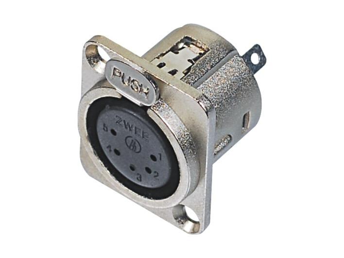 XLR卡侬母插座SPF5-21