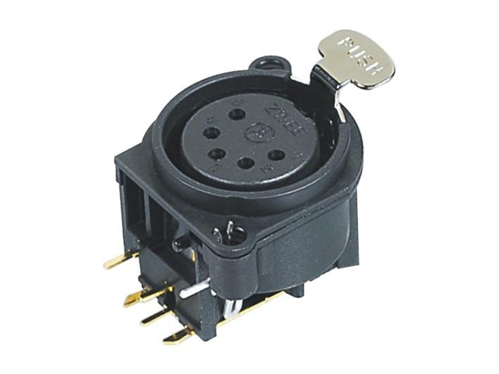XLR卡侬母插座SPF5-24-BL